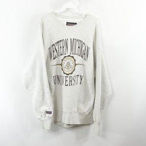 90s JanSport Mens 2XL Western Michigan Sweatshirt